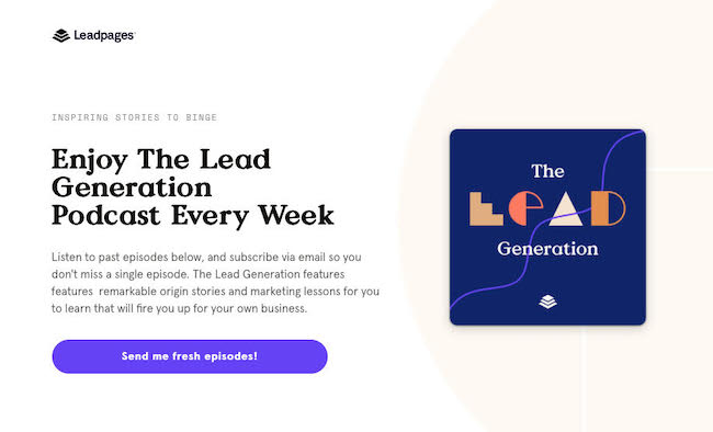 Leadpages Content Experience