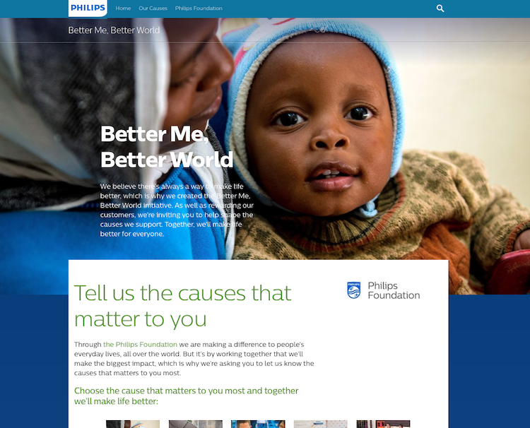 Philips-Better-Me-Better-World-Website