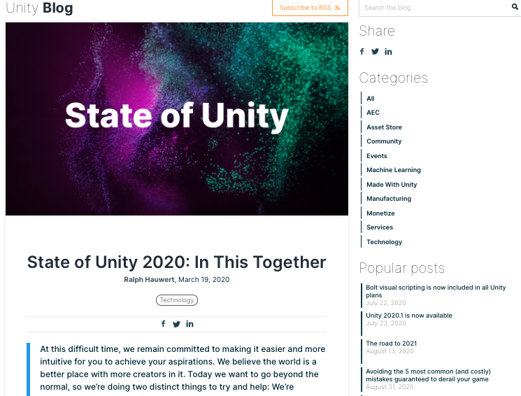 State of Unity