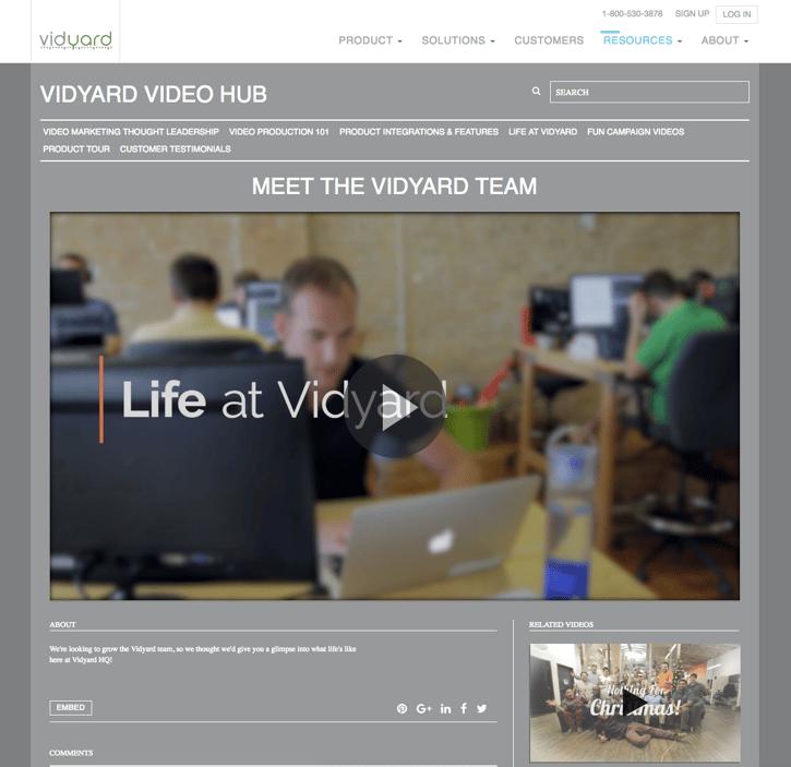 Vidyard Employee Team Video