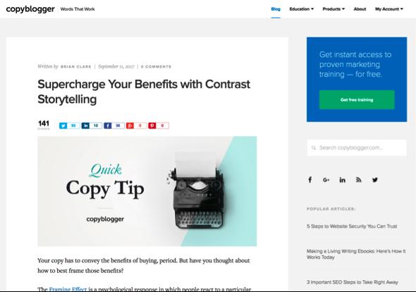 copyblogger blog