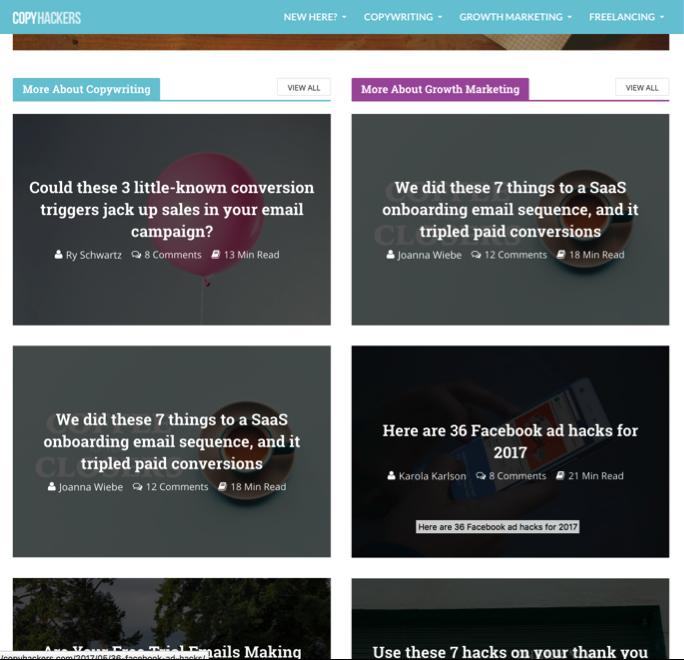copyhackers blog