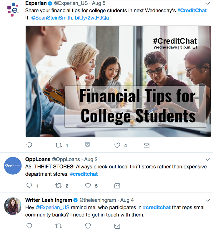 experian twitter chat