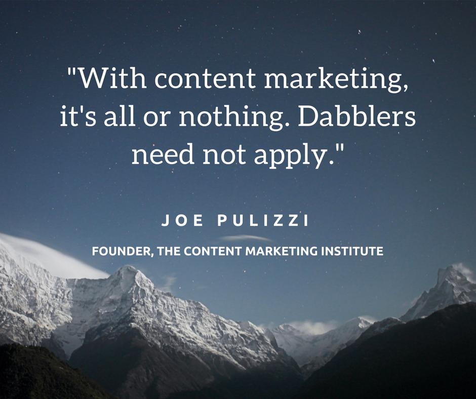 Joe Pulizzi Quote