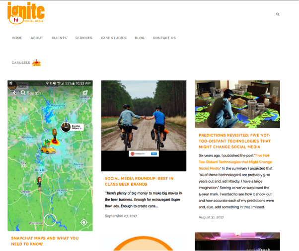 ignite social media blog