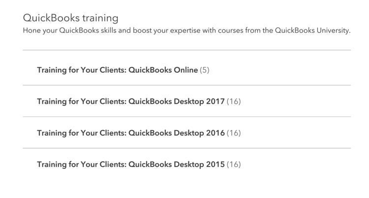 Quickbooks Training