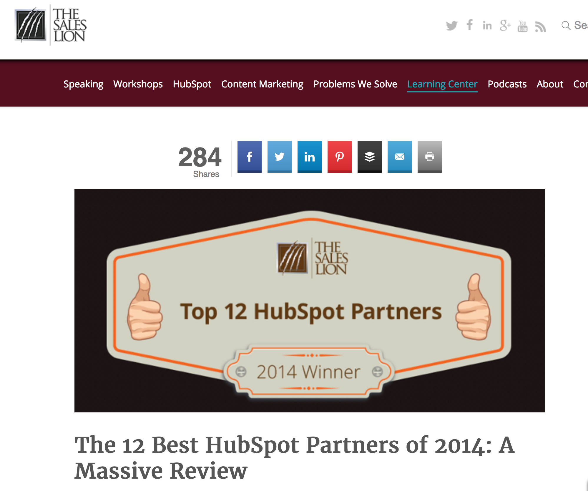 Sales Lion Top HubSpot Partners