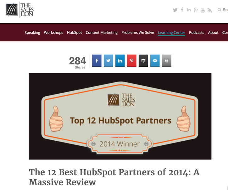 Sales Lion Top HubSpot Partners