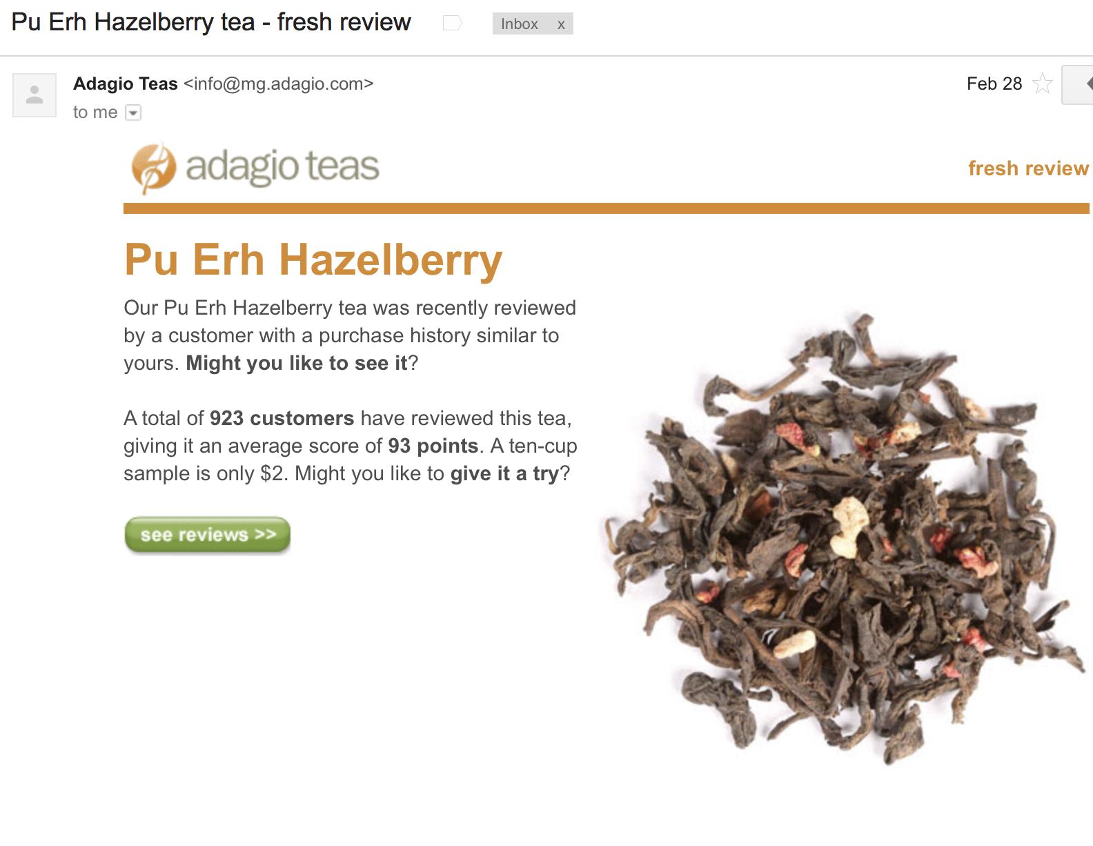 Adagio Teas Context Marketing