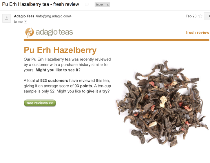 Adagio Teas Context Marketing