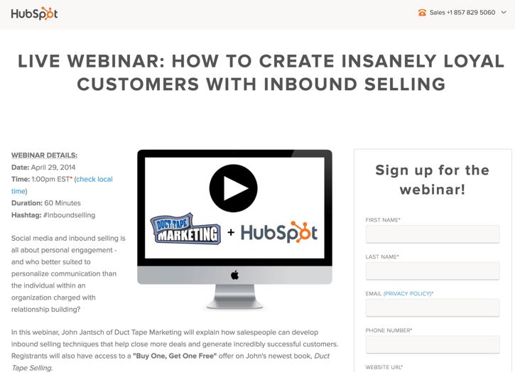 HubSpot Live Webinar