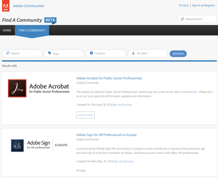 Adobe Customer Community