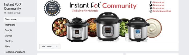 instant pot facebook
