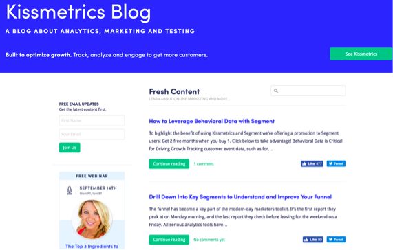kissmetrics blog