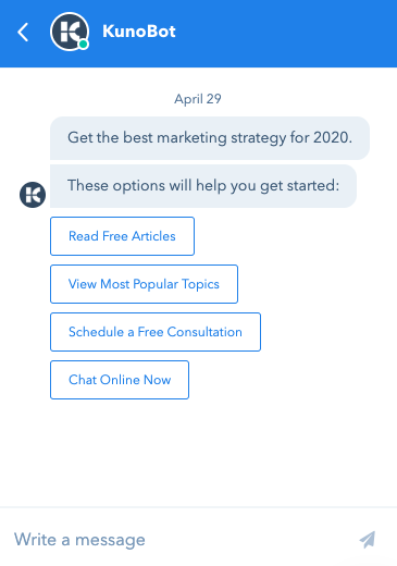 kuno chat bot