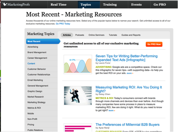 marketingprofs blog