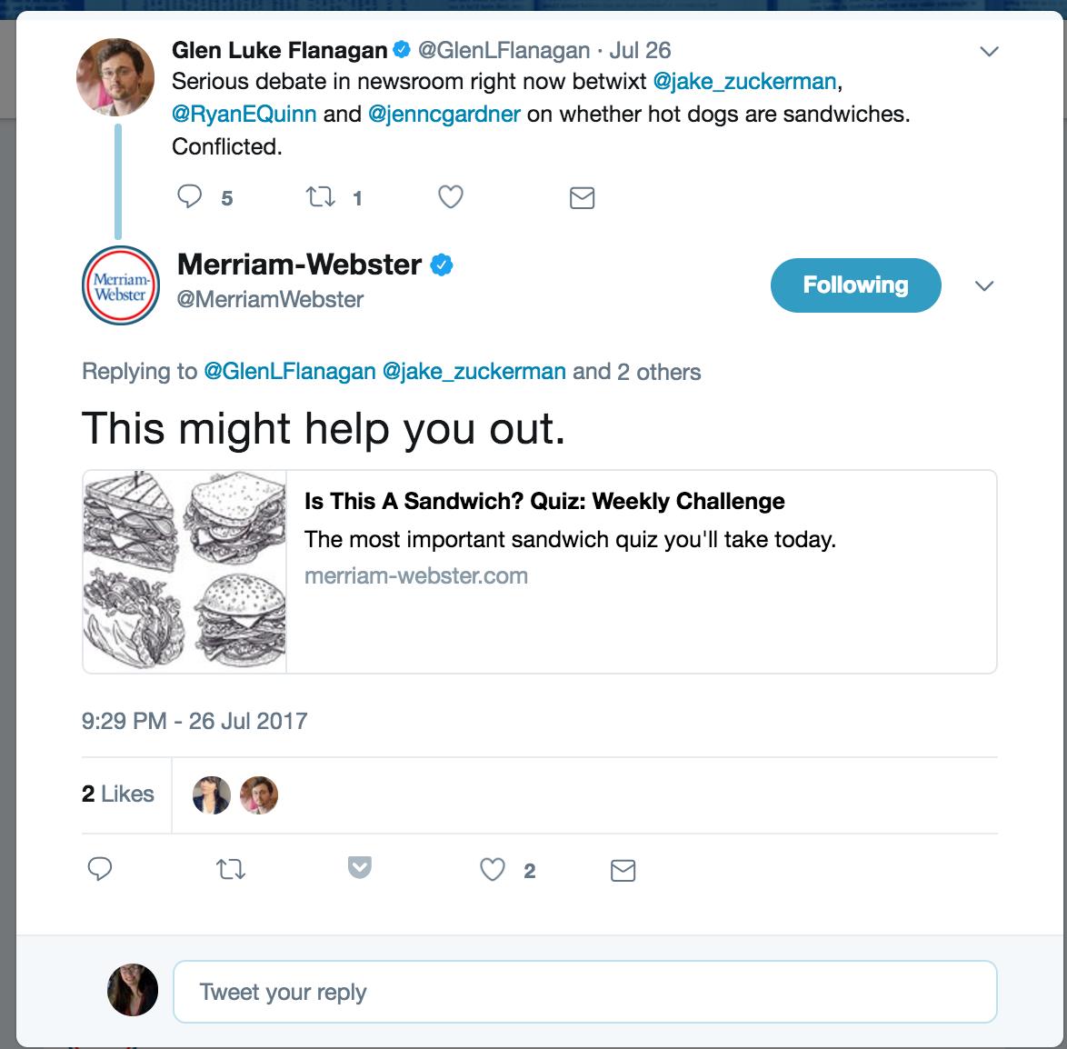 merrian webster social listening