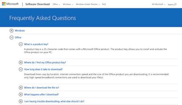 Microsoft FAQ