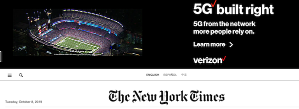 The New York Times ad image