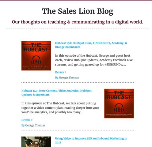 sales lion blog