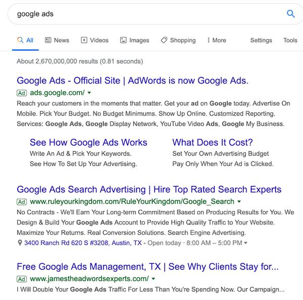Serp ads image