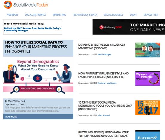 social media today blog