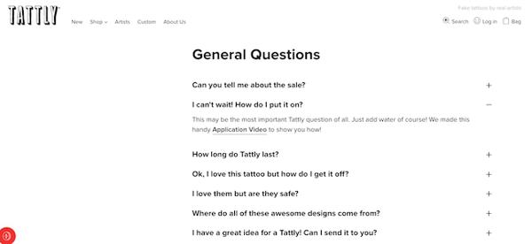 Tattly FAQ