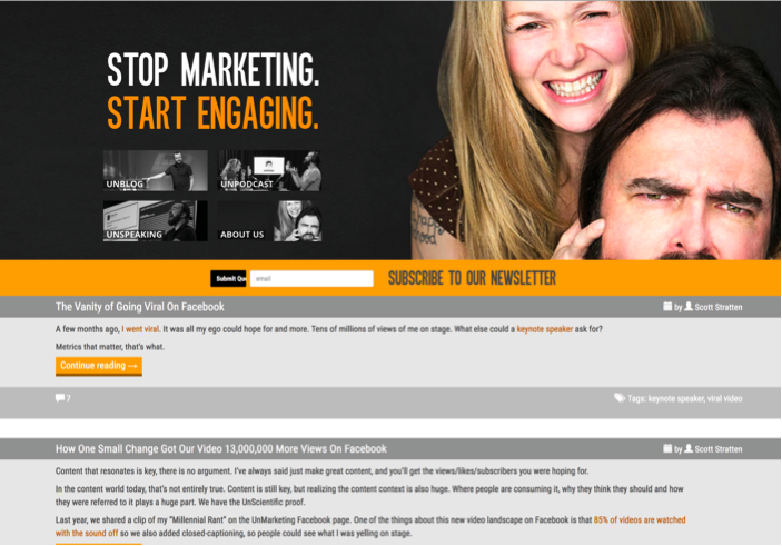unmarketing blog