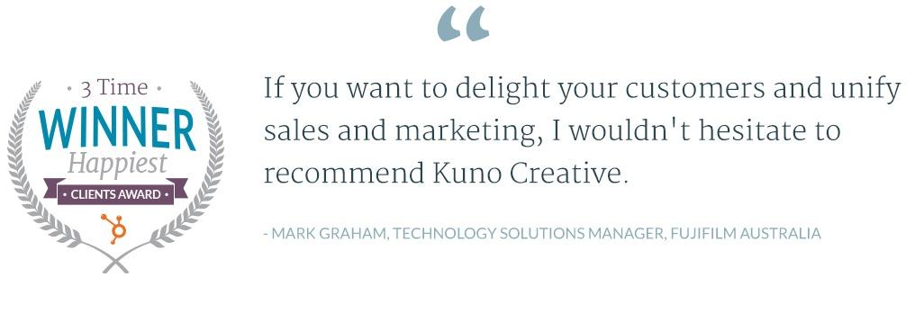 Kuno Creative Testimonial - FujiFilm Australia