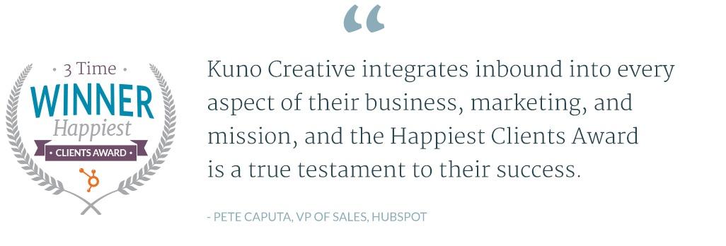 Kuno Creative Testimonial - Hubspot Sales